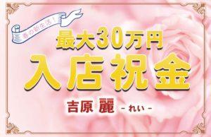 吉原ソープ 麗 入店祝金キャンペーン実施中!最大30万円!